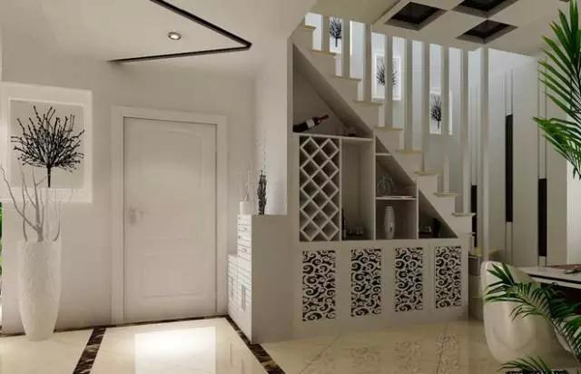 今天我们就来看看复式楼玄关楼梯有哪些装修好点子呢?图片