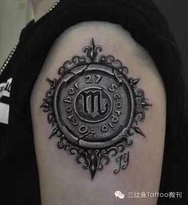 纹身|天蝎座图案