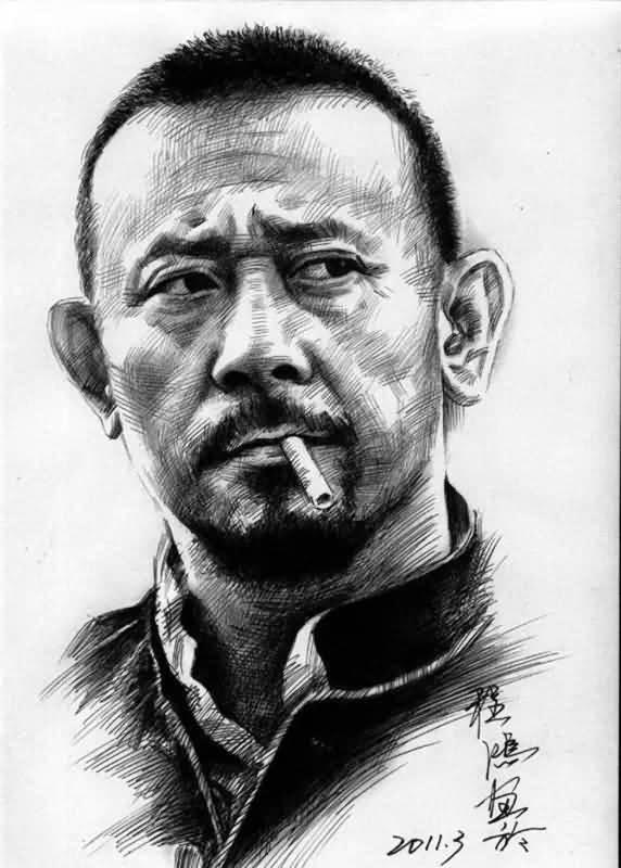 画家程鸿用铅笔画绘就的名人们的肖像,太逼真了