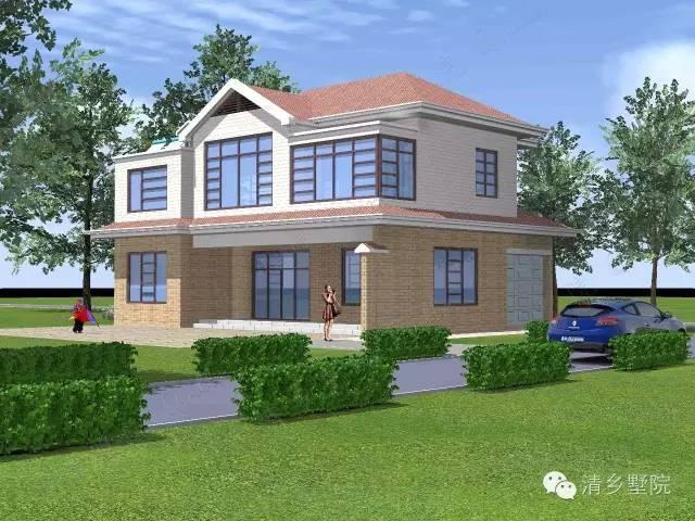 10米x11.80米原创二层乡村自建别墅设计案例图片