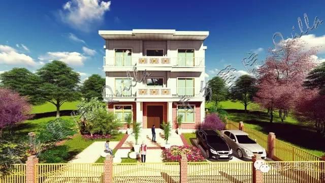 00米中式庄园一层自建房屋,清墅付费设计案例vt-009赏析图片