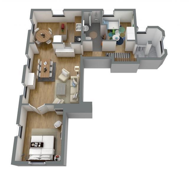 冬日裡溫暖裝修設計,70㎡兩房兩廳,廚房大亮!
