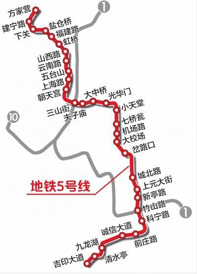 曝南京地铁2022建设规划图 附未来5年地铁建设时间表