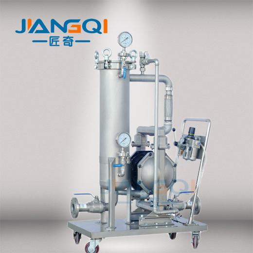 泵与过滤器之间采用软管连接,消除了气动泵震动带来的负面影响.图片