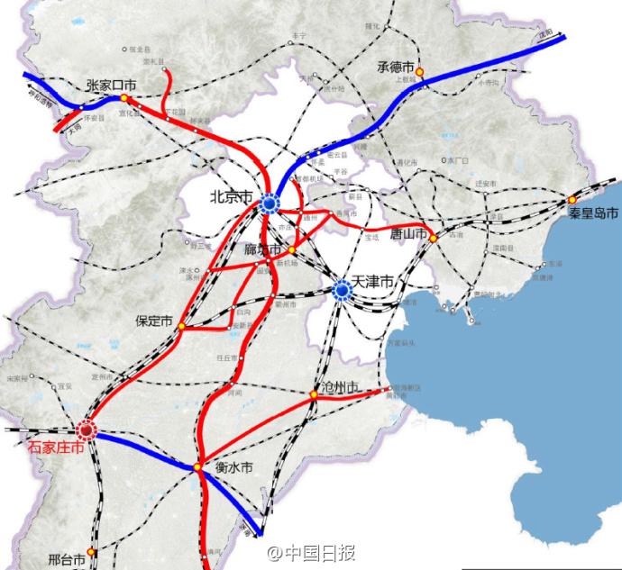 """《河北省轨道交通发展""""十三五""""规划》,提出将研究推进北京亦庄-廊坊图片"""