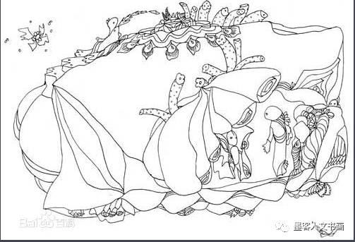 水杉手绘立面图