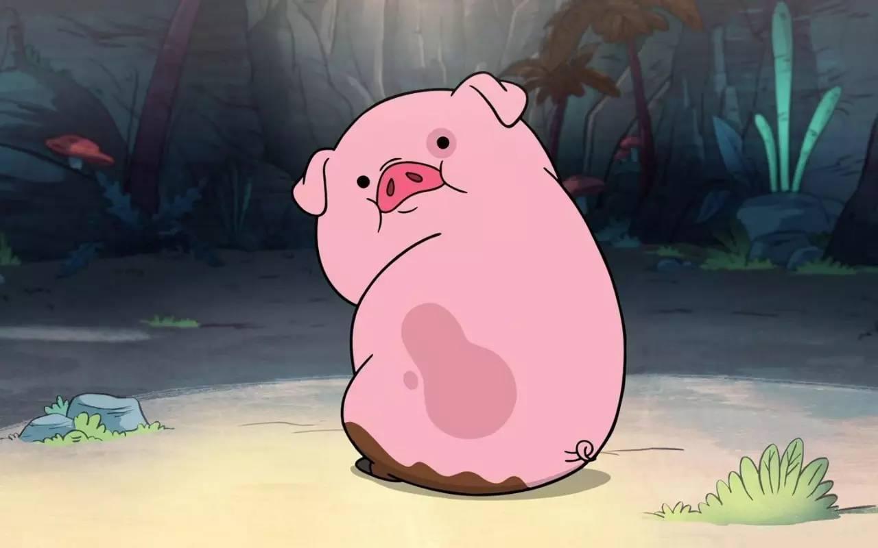 一只猪答到表情坐等表情艳遇包图片