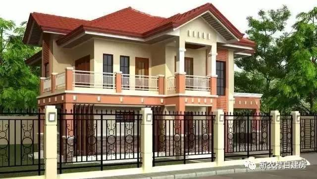 2层农村自建房30万就能建,15X12米带车库还有院子