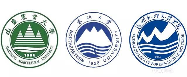 山东农业大学 vs 东北大学 vs 福州外语外贸学院 其中,东北大学校徽图片