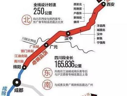 西成高铁12月开通成都到西安3小时说走就走!