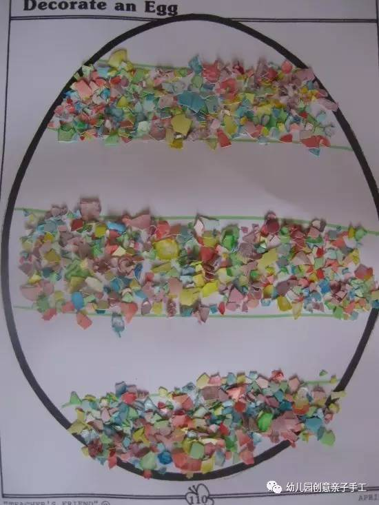 粘贴画 小班的鸡蛋壳作业,创意很赞还附赠模板