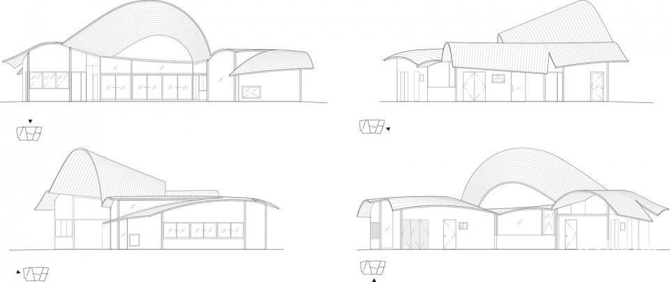 然后在这个轻钢结构中架设50×50的单板层积材 (lvl).