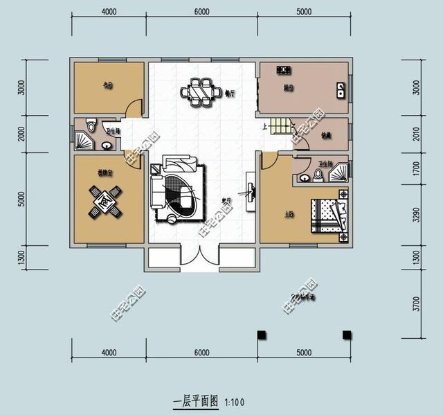 8米宽x15米长农村自建房怎么设计?图片