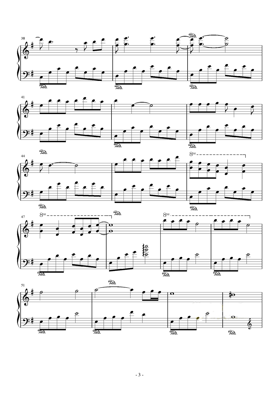 三生三世十里桃花插曲钢琴谱 凉凉
