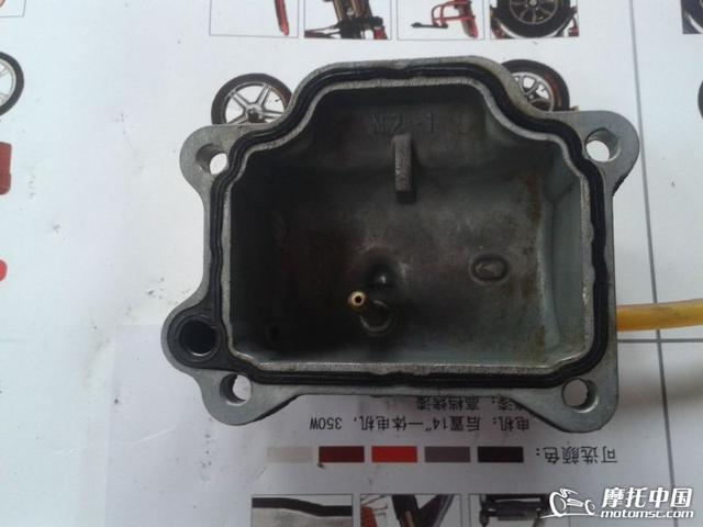 雅马哈C8摩托车化油器实物分解图示 全图图片