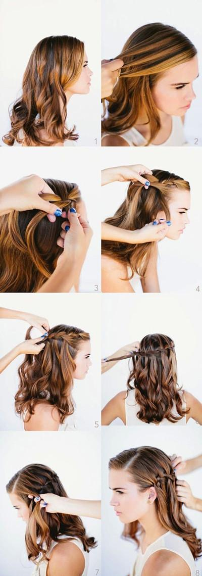 比龙母发型还美的编发,简单易懂的五种超美编发图片