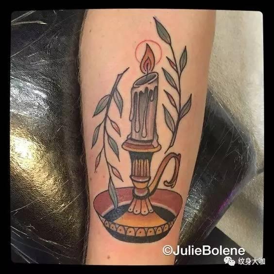 纹身素材:蜡烛