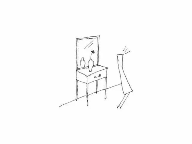 手绘线稿临摹柜子