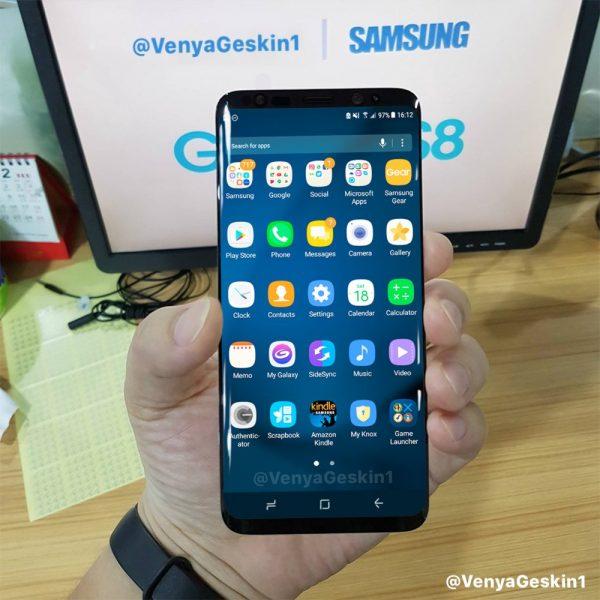 在网路上Twitter推特网友曝光最新Galaxy S8照片
