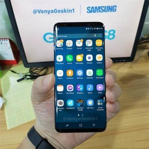 三星S8真机谍照曝光:曲面屏+超高屏占比+无实