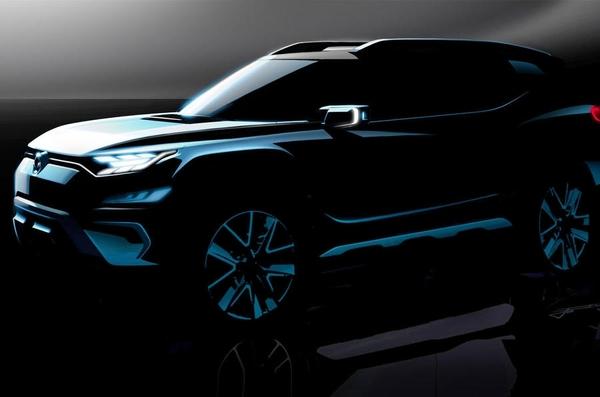 双龙XAVL概念车预告图发布 日内瓦车展亮相