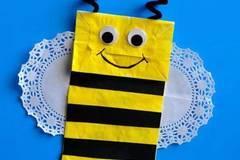 纸袋DIYv纸袋春天的卡通手偶韩版蜜蜂锁图片