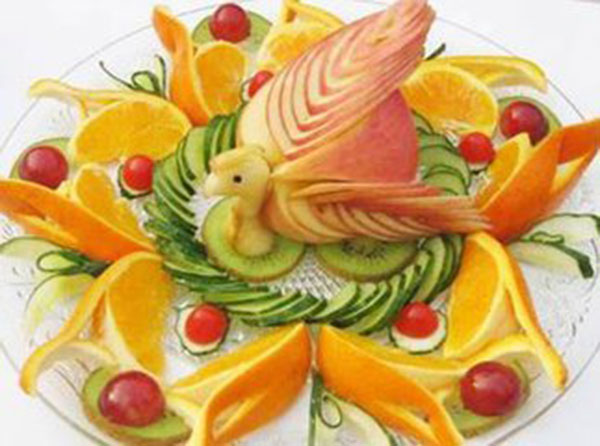 世界上最美丽的食物——水果雕刻