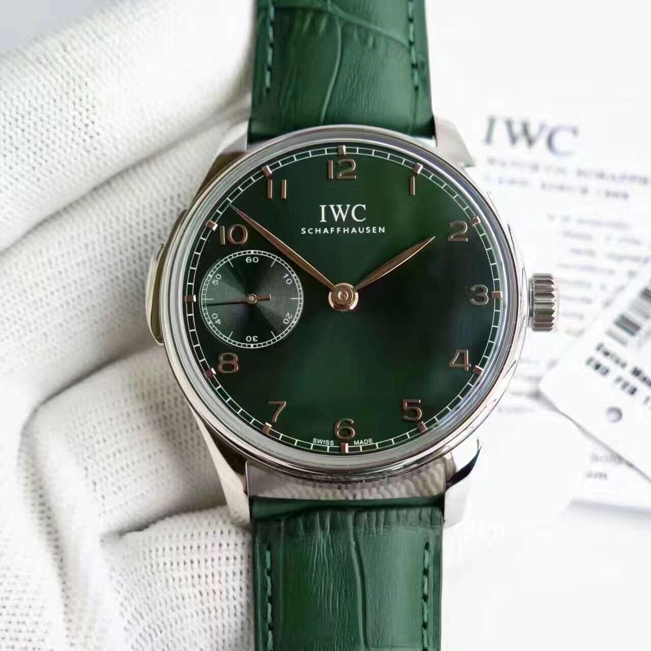 IWC Iowa IW524204 Green limited edition male replica watches, silver and white scale / gold scale.