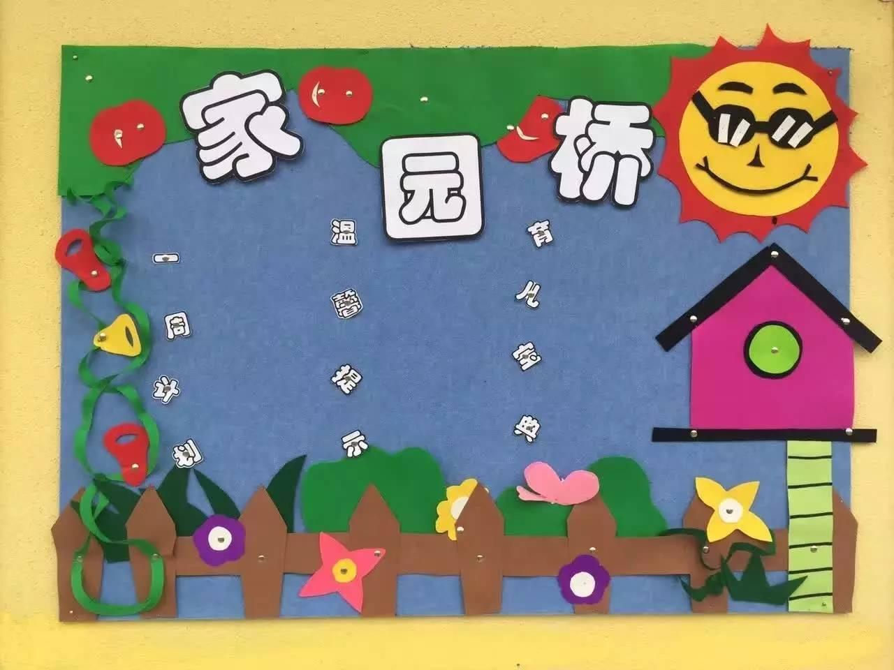 大方漂亮的幼儿园家园联系栏布置,幼师必备图片