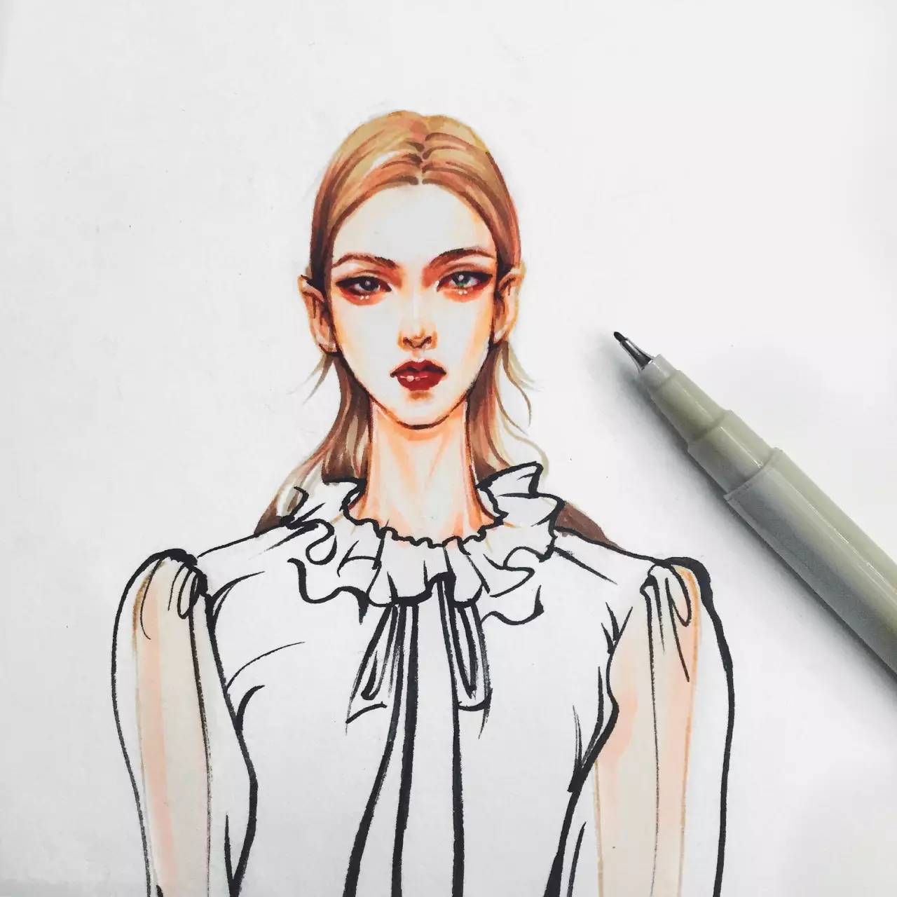 【手绘时装画课程】你们手绘这么不认真,曾经的梦想,依旧是梦想!
