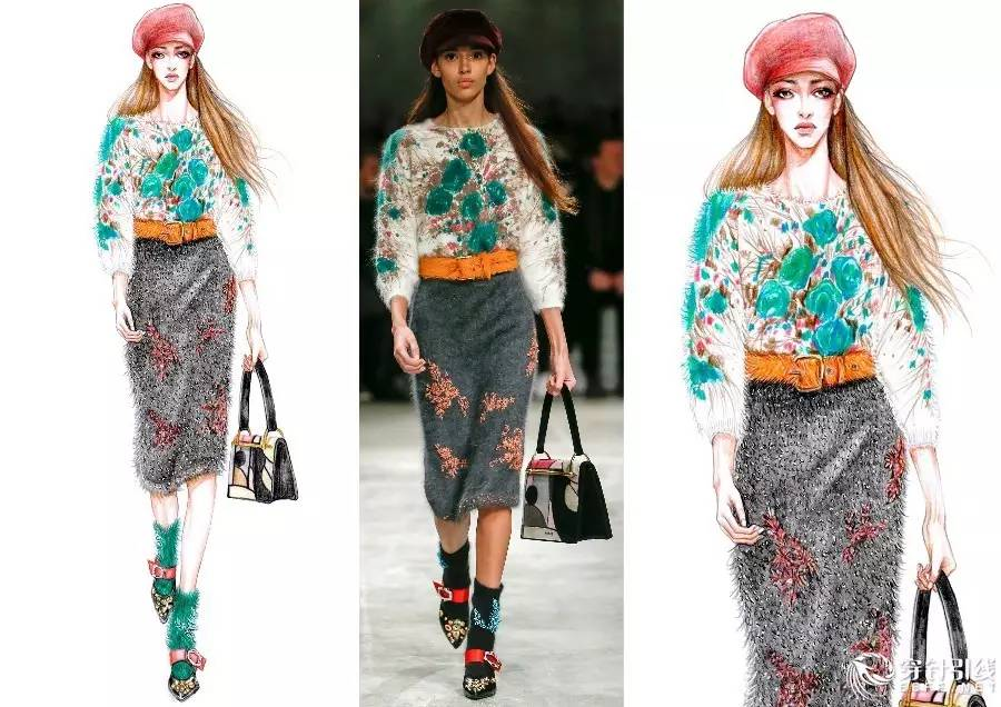 时尚手绘 | 吉普赛小妖精——手绘服装画