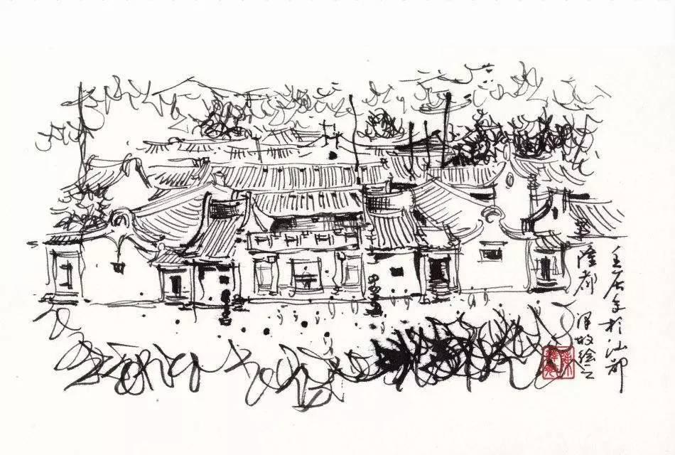 园林透视图手绘竹