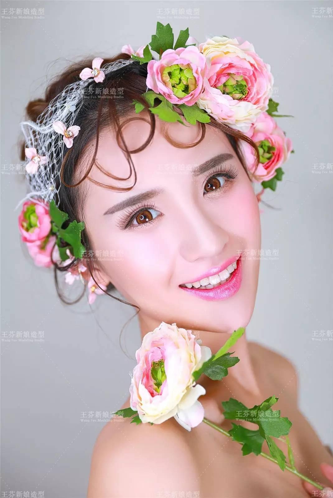 韩式新娘发型鲜花系列 花团锦簇清新雅致图片