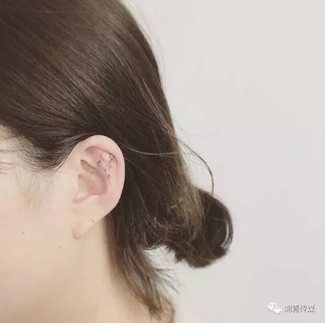 虽然耳朵以及耳后方的刺青空间有限,但还是有很多图案可以发挥,相信看
