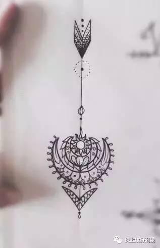 纹身&箭头图案