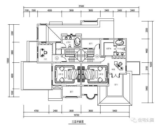 20x20米3层双拼别墅,客厅挑空带地下室