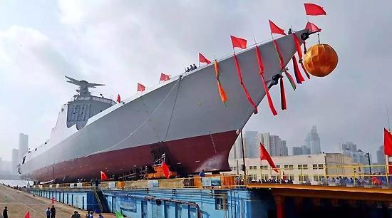 大驱来啦!我国新型万吨级驱逐舰首舰刚刚下水 - ★  牧笛  ★ - ☆☆【牧笛视觉藝術】☆☆