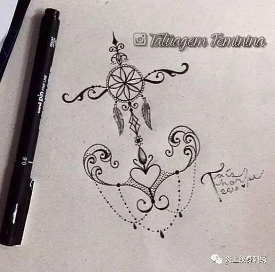 箭头纹身小图分享展示