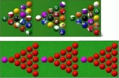 中式八球黑八台球开球技巧图片
