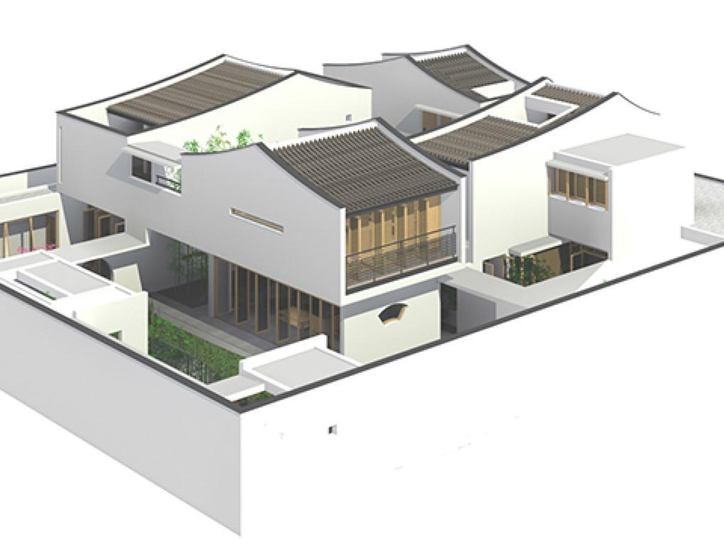 易盖房小院:江南农村图纸,方法别致,舒服一辈子的v小院图纸折文艺图片