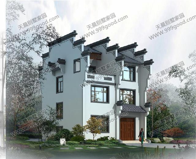农村4套中式别墅设计图,古香古韵媲美简欧小洋房