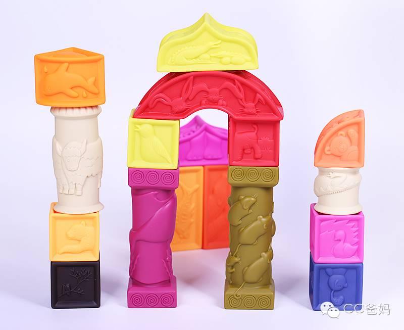toys罗马软积木,可捏可啃可感统训练,妈妈