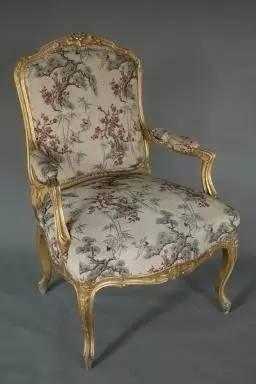 木绒面洋式椅