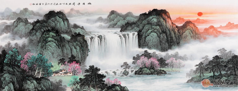 经典山水国画高清大�_大爱中国风 超经典中式客厅山水挂画精选