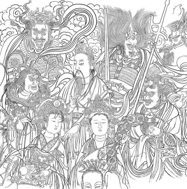 脸为题材画一幅手绘线条图像