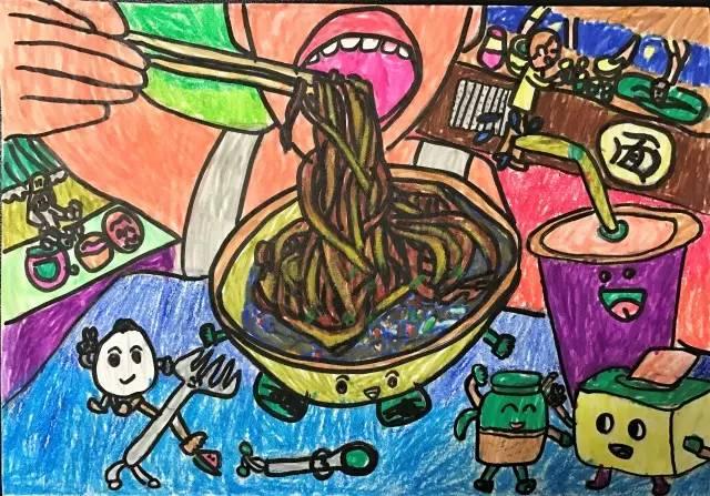 ——优秀绘画作品:《武汉的早餐真好吃》图片