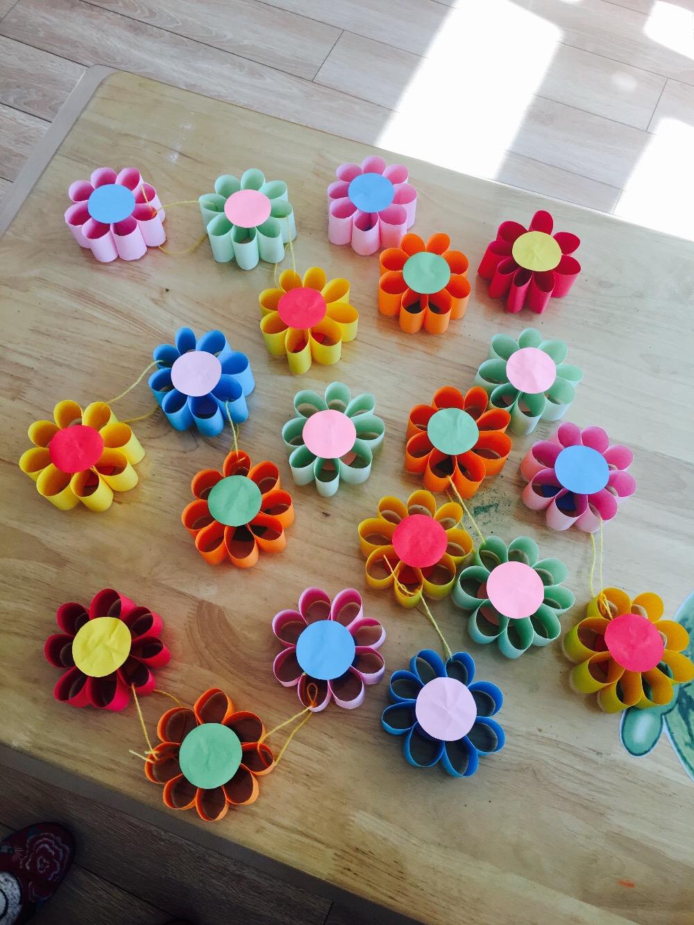 幼儿园春季亲子手工环创之美在春天里图片