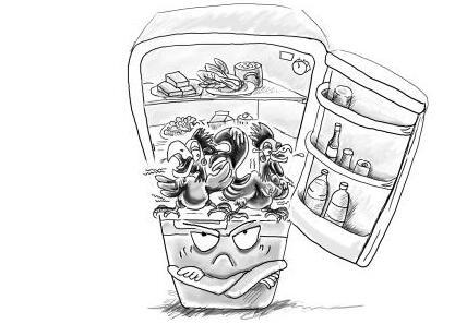冰箱创意设计手绘