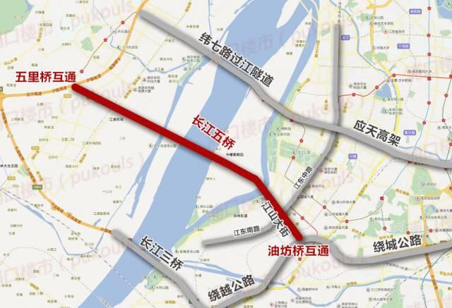 05 长江五桥的主桥建设计划于今年的4月1日开工,路线起自南京市浦口图片