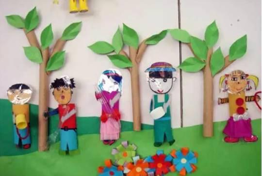 节日环创 | 幼儿园植树节主题墙